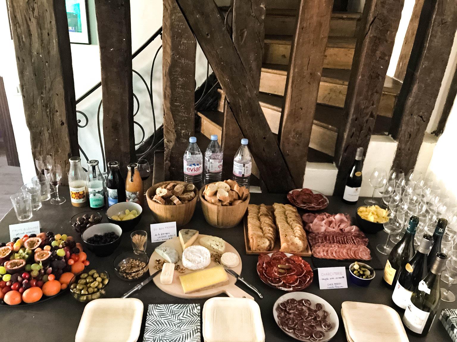 Un petit verre pour discuter (et du bon fromage de Lorent DUBOIS, meilleur ouvrier de France)