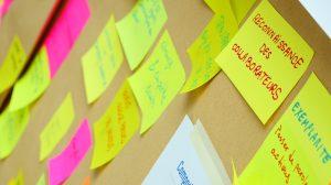 Mise en place de panneaux ou les collaborateurs peuvent exprimer leurs besoins.